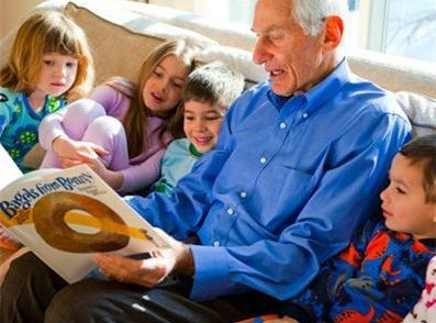 PJ Library founder, Harold Grinspoon at storytime
