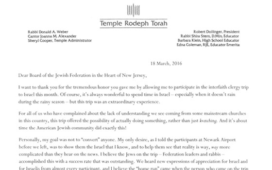 a note from rabbi weber on returning from federation s interfaith