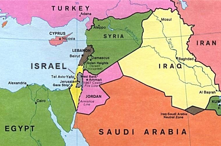 """Результаты поиска изображений для запроса """"Map of Israel and Surrounding Countries"""""""