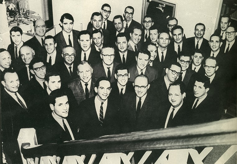 A historical photo with men from a Jewish Federation leadership council