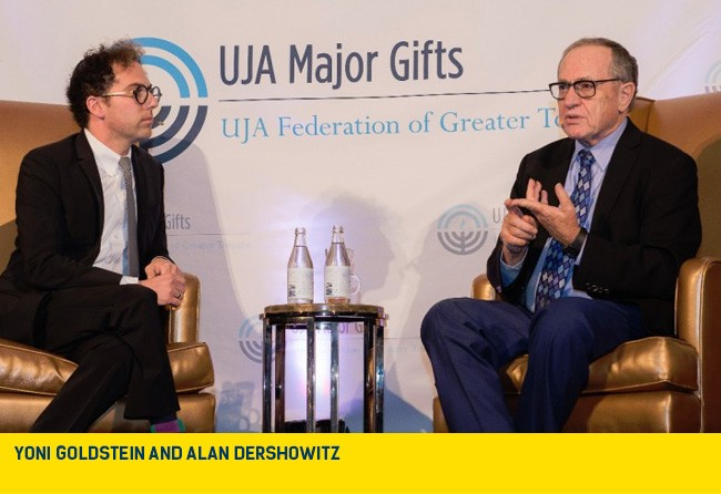 Yoni goldstein and Alan Dershowitz