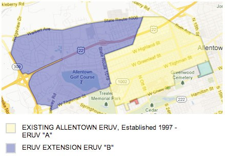 Allentown Eruv Sees Major Expansion Jewish Federation Of The