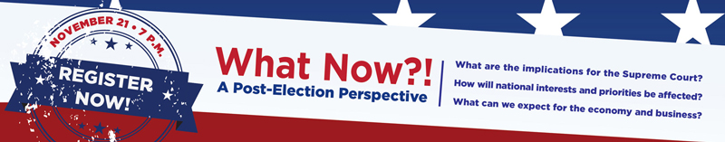 What Now? A Post-Election Perspective
