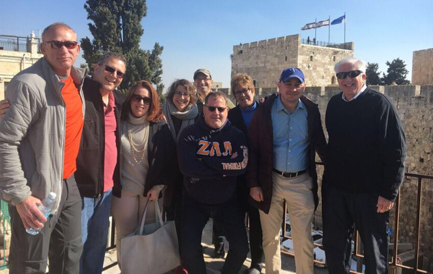 Arlene in Israel with group